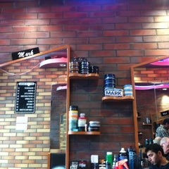 Photo taken at On The Mark Barbershop by CASSIDYVENTURES on 11/6/2012