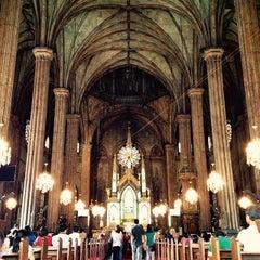 Photo taken at Minor Basilica of San Sebastian (Shrine of Our Lady Of Mount Carmel) by Zandro P. on 2/1/2015