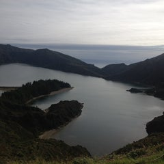 Photo taken at Miradouro da Lagoa do Fogo by Morgana V. on 11/19/2013