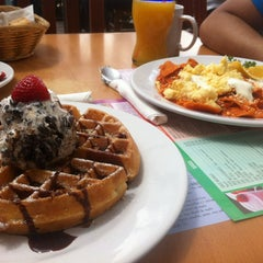 Photo taken at The Waffle Factory by Karla T. on 6/29/2013
