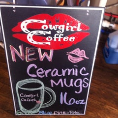 Photo taken at Cowgirl Coffee Baker Ave by Molly F. on 9/11/2013