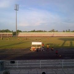 Photo taken at Stadium Sungai Besar by Akhmal S. on 9/8/2014