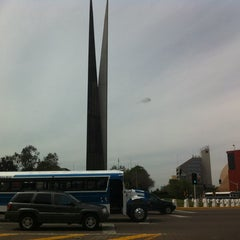 Photo taken at Glorieta Del Monumento a la Independencia (Las Tijeras) by Alizée D. on 4/9/2014