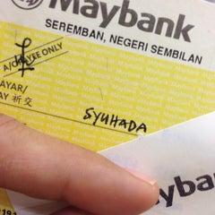Photo taken at Maybank (Seremban Main Branch) by Syued A. on 1/22/2014