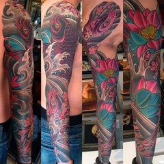 Photo taken at Remington Tattoo by joey f. on 3/21/2014