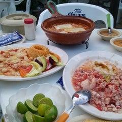 "Photo taken at Restaurante De Mariscos ""Loredos"" by Marysol S. on 4/1/2014"