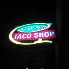 Photo taken at Bodegas Taco Shop by Marcus D. on 4/7/2013