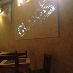 Photo taken at Glück Resto-Bar by Romain R. on 11/7/2014