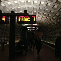 Photo taken at Foggy Bottom-GWU Metro Station by Emily T. on 11/13/2013