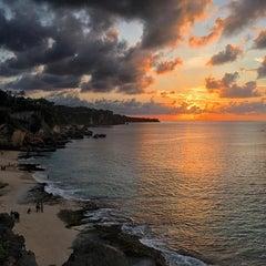 Photo taken at Tegal Wangi Beach by Lilia Z. on 1/23/2016