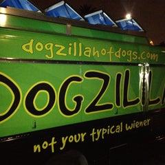 Photo taken at Dogzilla Hot Dogs Truck by Matthew L. on 4/12/2013