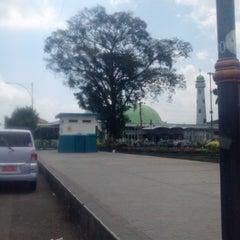 Photo taken at Masjid Agung Baitussalam by ukie c. on 10/4/2013