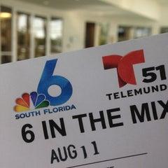 Photo taken at NBC 6 South Florida by Burger B. on 8/11/2014