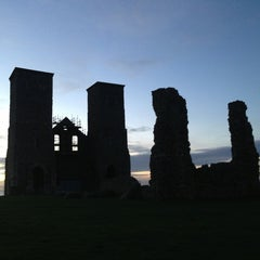 Photo taken at Reculver Towers and Roman Fort by Gail M. on 10/23/2013