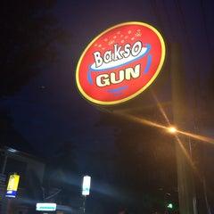 Photo taken at Bakso Gun by Huda B. on 2/2/2014