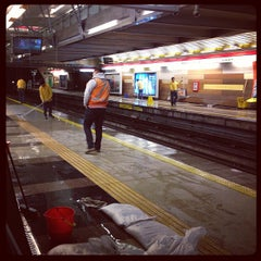 Photo taken at Metro Manquehue by Aníbal V. on 7/14/2013