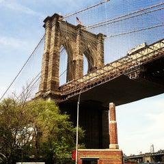 Photo taken at Under The Brooklyn Bridge by Katrina on 5/10/2013