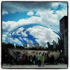Photo taken at Cloud Gate by Michael F. on 5/12/2013
