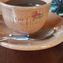 Photo taken at Cafe Las Flores by Harry C. on 3/18/2014
