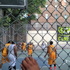 Photo taken at West 4th Street Courts (The Cage) by Noah W. on 7/26/2015