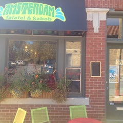 Photo taken at Amsterdam Falafel & Kabob by Joe C. on 10/16/2012