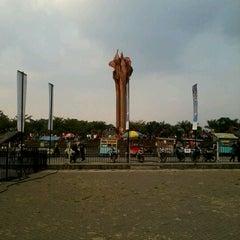 Photo taken at Lapangan Tegalega by Vicka S. on 9/8/2012