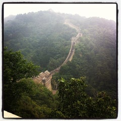 Photo taken at 慕田峪长城 Great Wall at Mutianyu by Terence S. on 9/10/2012