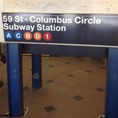 Photo taken at MTA Subway - 59th St/Columbus Circle (A/B/C/D/1) by J Dot on 7/25/2012
