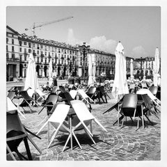 Photo taken at Piazza Vittorio Veneto by Francesca G. on 5/25/2012