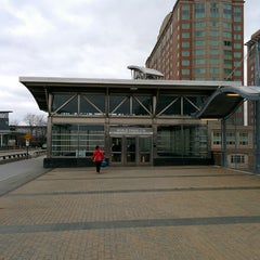 Photo taken at MBTA World Trade Center Station by Michael L. on 4/17/2014
