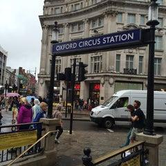 Photo taken at Oxford Circus by Toni B. on 8/10/2014
