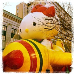 Photo taken at Macy's Parade Balloon Inflation 2012 by Daniel C. on 11/21/2012