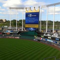 Photo taken at Kauffman Stadium by Jason E. on 9/15/2012