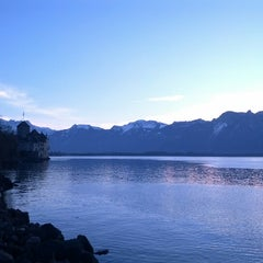 Photo taken at Château de Chillon by Cristian U. on 12/24/2012