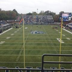 Photo taken at Foreman Field at S.B. Ballard Stadium by Erich M. on 10/27/2012