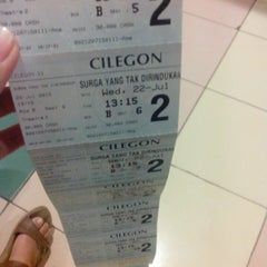 Photo taken at Cinema 21 Cilegon by Sonia B. on 7/22/2015