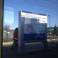 Photo taken at Fort Snelling LRT Station by Jeff J. on 4/25/2013