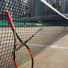 Photo taken at 반포종합운동장 테니스코트 by Eugene J. on 3/14/2015