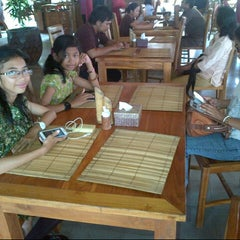 Photo taken at Gubug Makan Segara Bambu by Bagus B. on 12/28/2014