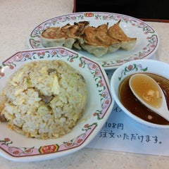 Photo taken at 餃子の王将 伊勢崎店 by reremon on 9/18/2014