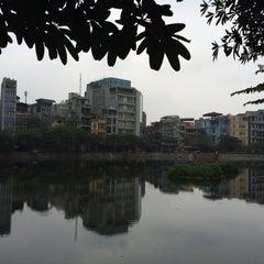 Photo taken at Hồ Văn Chương (Van Chuong Lake) by Phan V. on 2/2/2014