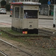 Photo taken at Tram 5 : Halte - Antwerp Stadion by Willy C. on 11/24/2015