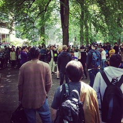 Photo taken at South Park Blocks by Rurik N. on 5/19/2014