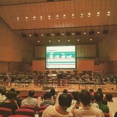 Photo taken at Hong Kong City Hall 香港大會堂 by Yat Yiu Y. on 6/28/2015