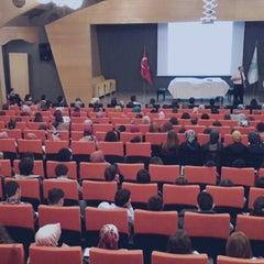 Photo taken at Üsküdar Üniversitesi Nermin Tarhan Konferans Salonu by Murat G. on 10/25/2013