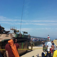 Photo taken at St. Joseph North Pier (at Tiscornia Park) by Ryan E. on 6/21/2014