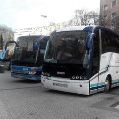 Photo taken at Estación de Autobuses de Donostia/San Sebastián by Sergey M. on 2/5/2014