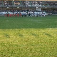 Photo taken at Estadio Municipal Castalia by Isaac G. on 9/14/2014