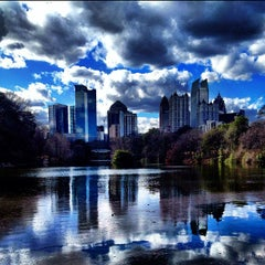 Photo taken at Piedmont Park by Dustin S. on 2/20/2013