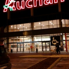 Photo taken at Auchan Fehér tó by Bence P. on 3/22/2014